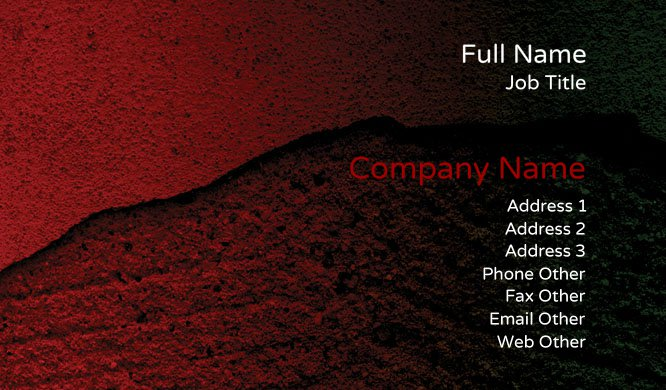 Red Stone Business Card Template